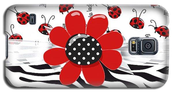 Ladybug Wild Thing Galaxy S5 Case by Debra  Miller