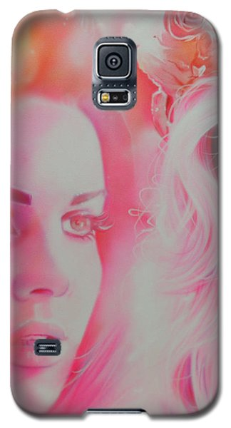 Celebrities Galaxy S5 Cases - Lana Del Rey Galaxy S5 Case by Christian Chapman Art