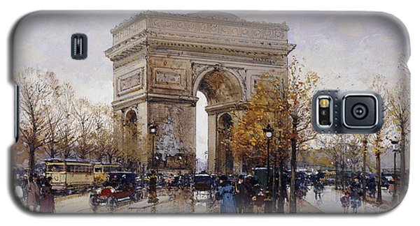 L'arc De Triomphe Paris Galaxy S5 Case by Eugene Galien-Laloue