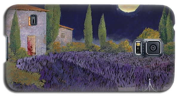 Moon Galaxy S5 Cases - Lavanda Di Notte Galaxy S5 Case by Guido Borelli