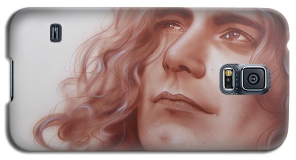 Robert Plant - ' Leaves Are Falling All Around ' Galaxy S5 Case by Christian Chapman Art