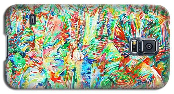 Led Zeppelin - Watercolor Portrait.1 Galaxy S5 Case by Fabrizio Cassetta