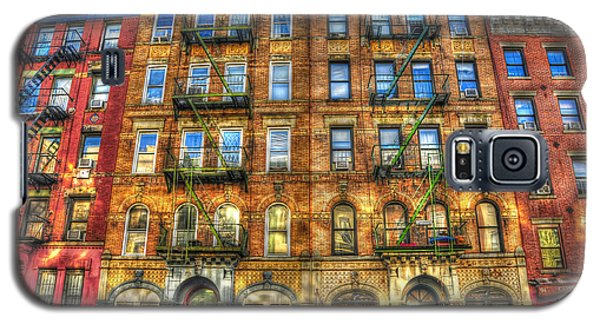 Music Galaxy S5 Cases - Led Zeppelin Physical Graffiti Building in Color Galaxy S5 Case by Randy Aveille