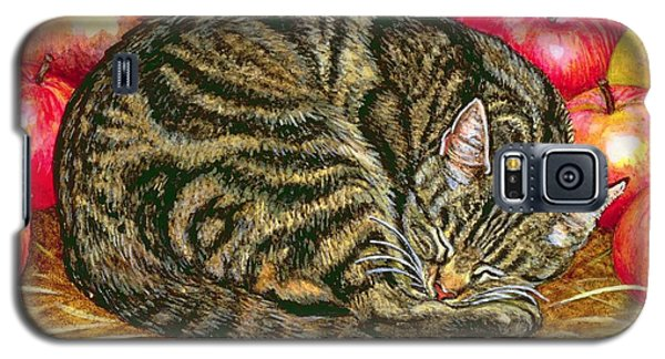 Left Hand Apple Cat Galaxy S5 Case by Ditz