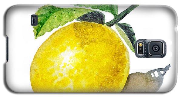 Lemon Galaxy S5 Case by Irina Sztukowski