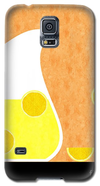 Lemonade And Glass Orange Galaxy S5 Case by Andee Design