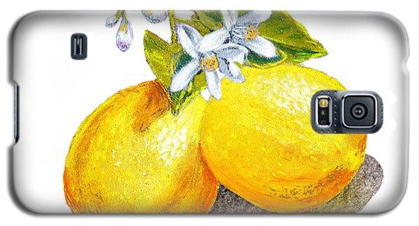 Lemons And Blossoms Galaxy S5 Case by Irina Sztukowski