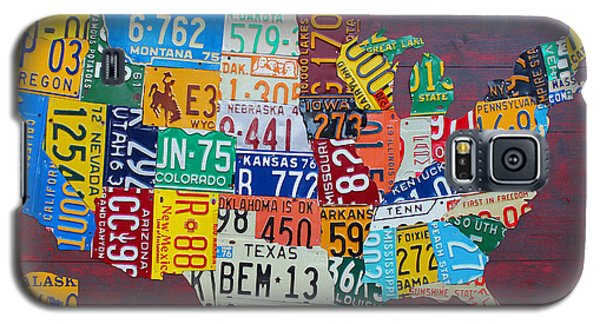 Best Sellers -  - Galaxy S5 Cases - License Plate Map of The United States Galaxy S5 Case by Design Turnpike