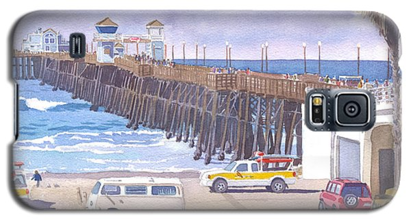 Lifeguard Trucks At Oceanside Pier Galaxy S5 Case by Mary Helmreich