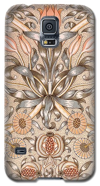Tapestries - Textiles Galaxy S5 Cases - Lily and Pomegranate wallpaper design Galaxy S5 Case by William Morris