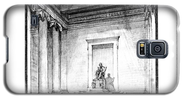 Lincoln Memorial Sketch IIi Galaxy S5 Case by Gary Bodnar