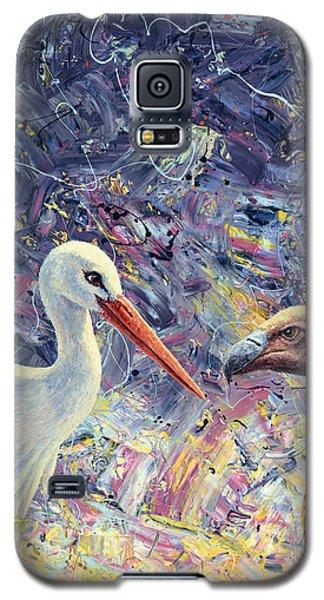 Living Between Beaks Galaxy S5 Case by James W Johnson