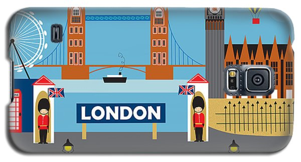 London England Skyline Style O-lon Galaxy S5 Case by Karen Young