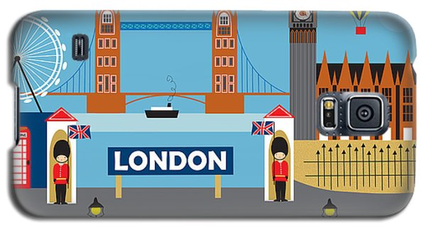 London England Skyline By Loose Petals Galaxy S5 Case by Karen Young
