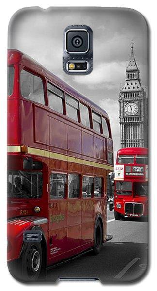 London Red Buses On Westminster Bridge Galaxy S5 Case by Melanie Viola
