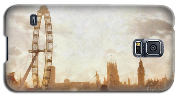 London Skyline At Dusk 01 Galaxy S5 Case by Pixel  Chimp