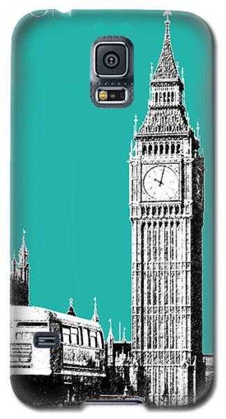 London Skyline Big Ben - Teal Galaxy S5 Case by DB Artist