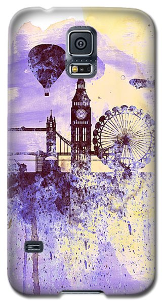 London Watercolor Skyline Galaxy S5 Case by Naxart Studio