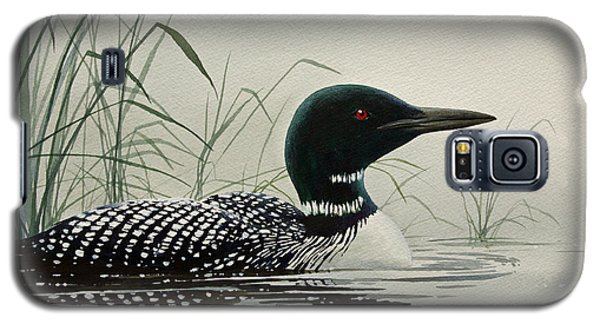 Loon Near The Shore Galaxy S5 Case by James Williamson