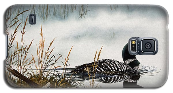 Loons Misty Shore Galaxy S5 Case by James Williamson