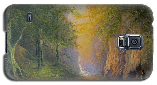 Lord Of The Rings Fangorn Treebeard Merry And Pippin Galaxy S5 Case by Joe  Gilronan