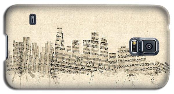 Los Angeles California Skyline Sheet Music Cityscape Galaxy S5 Case by Michael Tompsett
