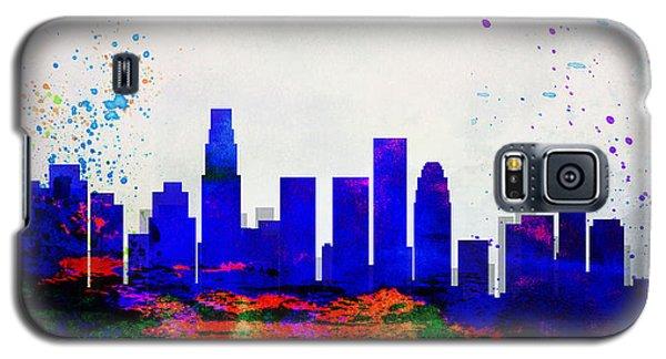 Los Angeles City Skyline Galaxy S5 Case by Naxart Studio