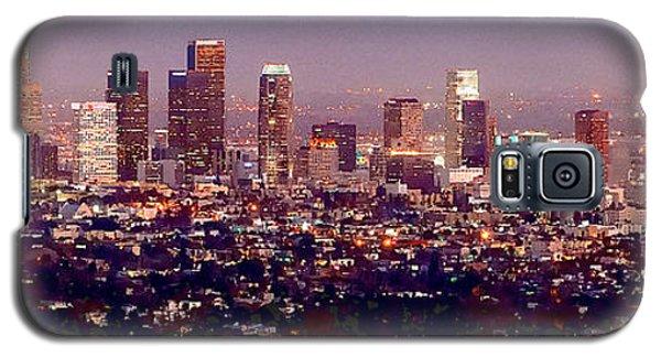 Los Angeles Skyline At Dusk Galaxy S5 Case by Jon Holiday