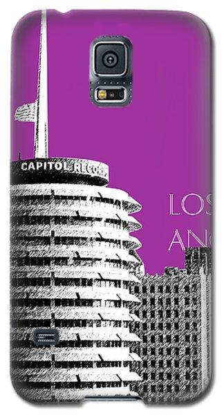 Los Angeles Skyline Capitol Records - Plum Galaxy S5 Case by DB Artist