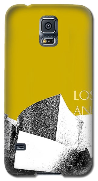 Los Angeles Skyline Disney Theater - Gold Galaxy S5 Case by DB Artist