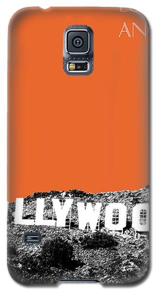 Los Angeles Skyline Hollywood - Coral Galaxy S5 Case by DB Artist