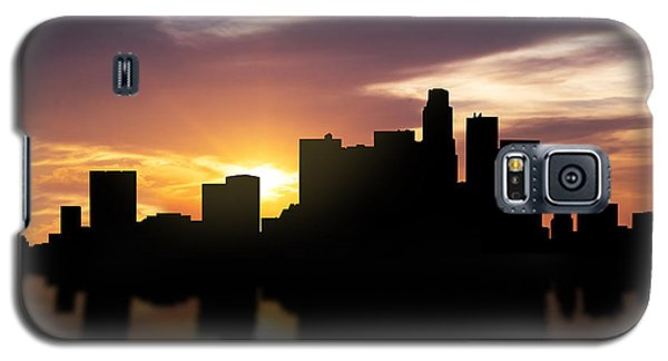 Los Angeles Sunset Skyline  Galaxy S5 Case by Aged Pixel