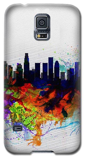 Los Angeles  Watercolor Skyline 2 Galaxy S5 Case by Naxart Studio