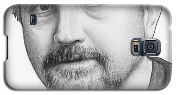 Celebrities Galaxy S5 Cases - Louis CK Portrait Galaxy S5 Case by Olga Shvartsur