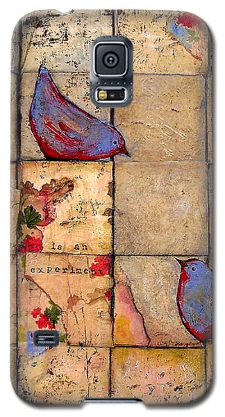 Love Birds All Life Is An Experiment Galaxy S5 Case by Blenda Studio