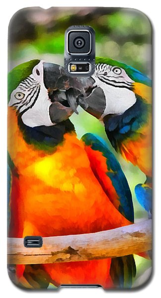 Love Bites - Parrots In Silver Springs Galaxy S5 Case by Christine Till