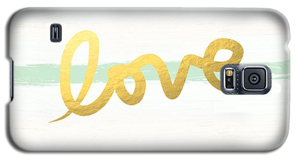 Recently Sold -  - Buy Galaxy S5 Cases - Love in Mint and Gold Galaxy S5 Case by Linda Woods