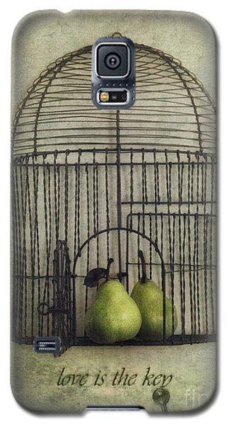 Love Is The Key With Typo Galaxy S5 Case by Priska Wettstein