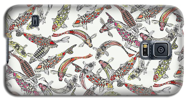Lucky Koi Off White Galaxy S5 Case by Sharon Turner