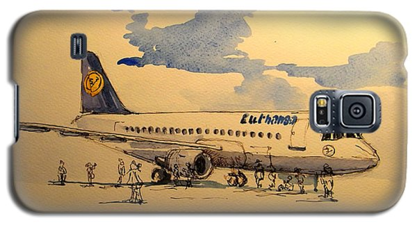 Lufthansa Plane Galaxy S5 Case by Juan  Bosco