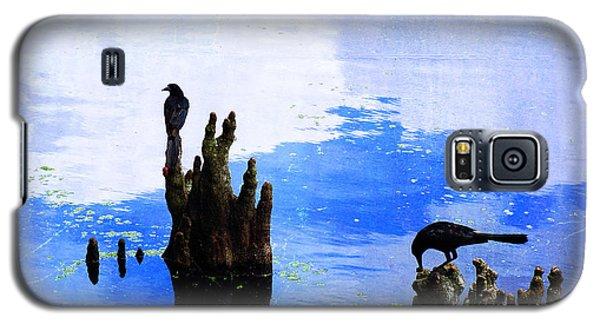 Lunch Break - Crow Art By Sharon Cummings Galaxy S5 Case by Sharon Cummings