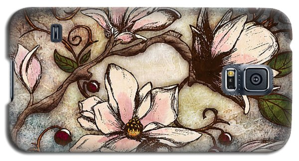 Flower Galaxy S5 Cases - Magnolia Branch I Galaxy S5 Case by April Moen