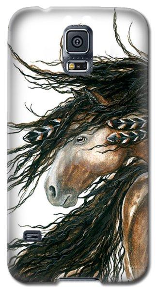 Majestic Pinto Horse 80 Galaxy S5 Case by AmyLyn Bihrle