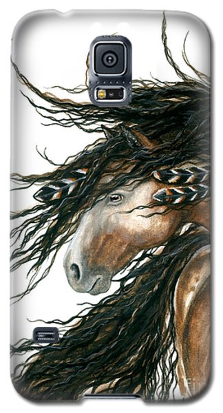 Majestic Pinto Horse 80 Galaxy S5 Case by AmyLyn Bihrle