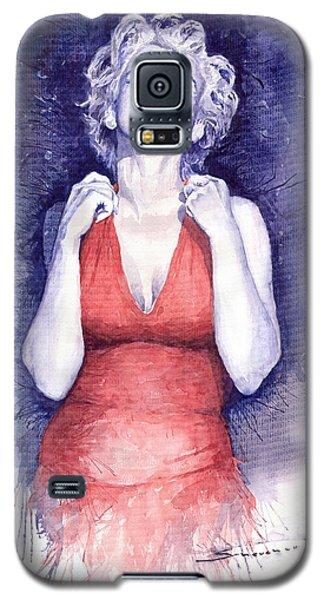 Marilyn Monroe Galaxy S5 Case by Yuriy  Shevchuk
