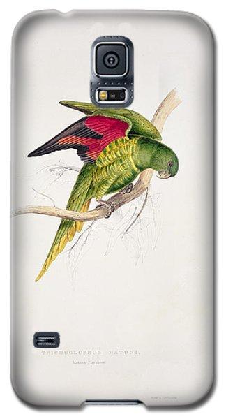 Matons Parakeet Galaxy S5 Case by Edward Lear