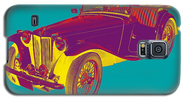 Mg Convertible Antique Car Pop Art Galaxy S5 Case by Keith Webber Jr