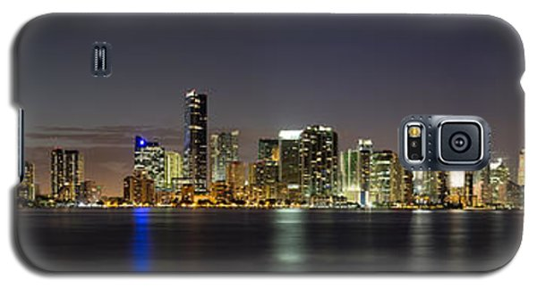 Skylines Galaxy S5 Cases - Miami Skyline Galaxy S5 Case by Andres Leon