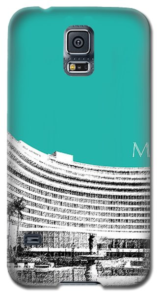 Miami Skyline Fontainebleau Hotel - Teal Galaxy S5 Case by DB Artist