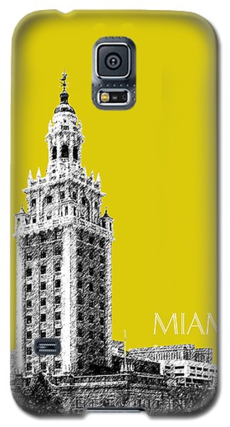 Miami Skyline Freedom Tower - Mustard Galaxy S5 Case by DB Artist